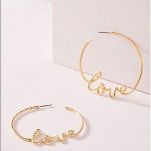 SALE! Stella & Dot Love Hoops (Gold)
